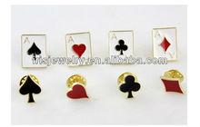 YS-brooch006 Poker logo Korea brooches and hijab pins wholesale bulk brooch