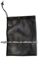 Heavy duty promotional drawstring net mesh sachet bag