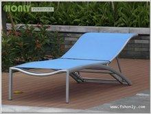 Aluminum sun lounger beach bed