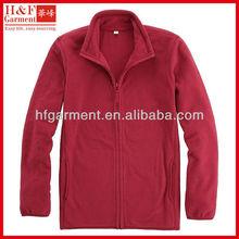 Red fleece jackets made of polar fleece elegant design for men's winter clothing