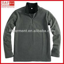 1 4 zip fleece pullover men's anti-pilling in grey contrast lining