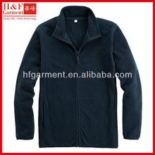 mens windproof fleece jacket full zip in plain navy blue new fashion