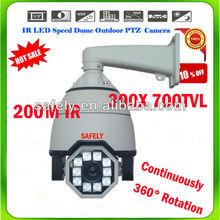 Outdoor IP66 waterproof 360 rotating 700tvl high speed dome 30X zoom
