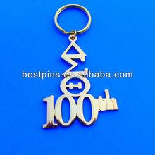 100 anniversary metal keychain /anniversary gifts