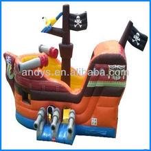 2013 Hot sale cheap inflat red beard pirate ship slide