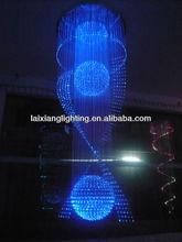 GuZhen professional desig mitsubishi led fiber optic chandelier color changing with mitsubishi fiber for hotel, bar, club