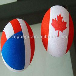 Eco Friendly sponge ball with national flag