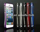 hot sale gun metal aluminum double bumper case cover for iphone 5 5g