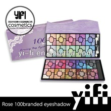 Rose 100 branded eyeshadow palettes high quality makeup goat hair brush set