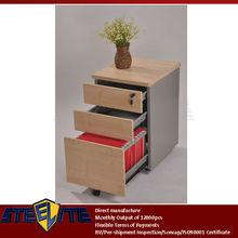With Wheel Metal Cabinet metal Drawer Filing Cabinet Steel Office Furniture