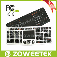 PC/PS3/Android TV box/Xbox 360/Google 2.4G Wireless Keyboard with Touchpad &LED Light
