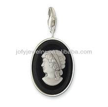 oval girl charms/simple girl charms /portrait charms