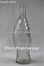 antique liquor bottle,fish bottle,glass liquor bottle for sale
