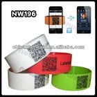 2013 Custom silicone id bracelets with QR code printing