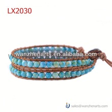 leather weave braceletsLX2030AB