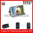 Auto Wake Sleep Function High Quality PU leather Phone case for Samsung Galaxy S4 I9500,Dark Blue
