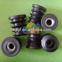 Plastic round metal threaded furniture tube insert
