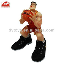 OEM service plastic toy, vinyl toy for baby, super basketball star