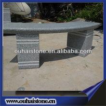 Hot sale cheaper garden natural granite stone outdoor patio bench