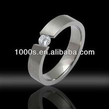 Cz Titanium Wedding Ring/ Fashion New Design Jewelry