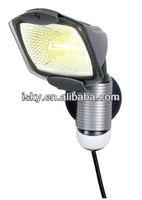 100-Watt Portable Plug-in Motion Security Floodlight Solar Light Gray