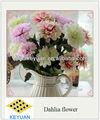 Plástico de alta simulação flor dália