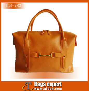 lychee pvc leather good constructured travel bag