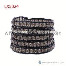 leather weave braceletLX5024AC