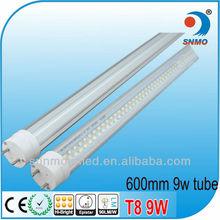 High Quality 9W LED Tube Lighting smd 2ft LED tube 60cm energy saving fluorescent tube t8