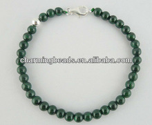 Semi-precious jewelry, fashion malachite beads bracelet, wholesale stone beads bracelet jewelry C3204