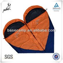 Hot sale splicing organic cotton quilt sleep bag with cap 1.2kgs