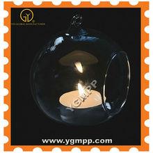 Hanging glass Candlestick vase mercury glass votives hurricane candle hanging glass lanterns for weddings