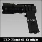 solar light 10w cree led long time lighting Handheld spotlight with 12v cigarette plug car lighter for hunting camping