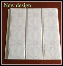 two grooves silver line design pvc false ceiling