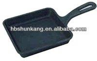 Cast Iron Square Frying Pan Egg Mini Skillet Pan