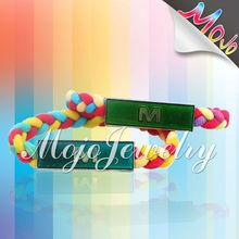 Handmade Woven Bracelet with Mood Charm Bracelet MK