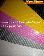 car badges emblems vinyl wrap white carbon fiber films 1.52*30m thickness:0.12mm