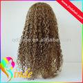 best vendre 2013 prix usine de cheveux humains perruque juif cheveux bouclés