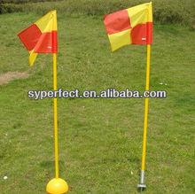 Coach/ Referee Accessories Cornner Flag Yellow Training Pole 25mm Diameter Plastic PVC Pipe 1.2M