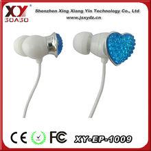 rhinestone earphone cap crystal plug 3.5mm crystal earphone plug