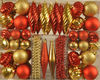Assorted plastic Christmas hanging ornaments