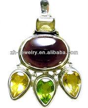 gemstone teardrop pendants