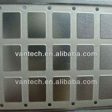 half etching metal item convex concave indentation IC lids