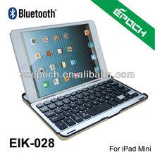 Aluminum stand case bluetooth keyboard for ipad mini