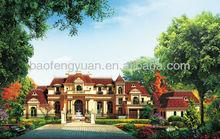Classic Style Light Steel Structure Prefabricated Villa