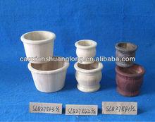 Antigo de madeira vasos