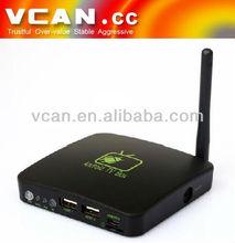 Single Core dvb s2 tv box android 4.0 smart tv box HDMI TV Box with TF Card Slot and External Antenna