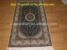 classical blue silk rugs