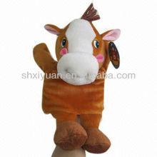 Cuddly animal plush hand puppet