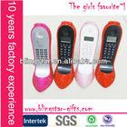 Hot selling wholesale high heel shoe wired diamond crystal rhinestone telephone